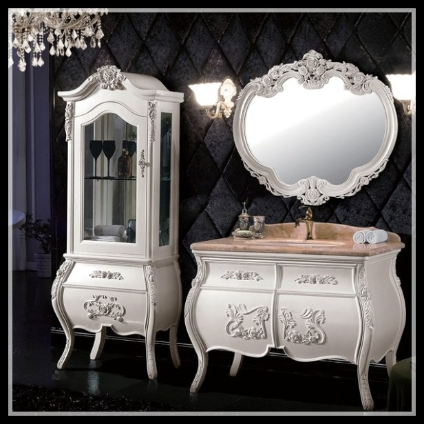 High end solid wood european style kids bathroom furniture for High end furniture for less