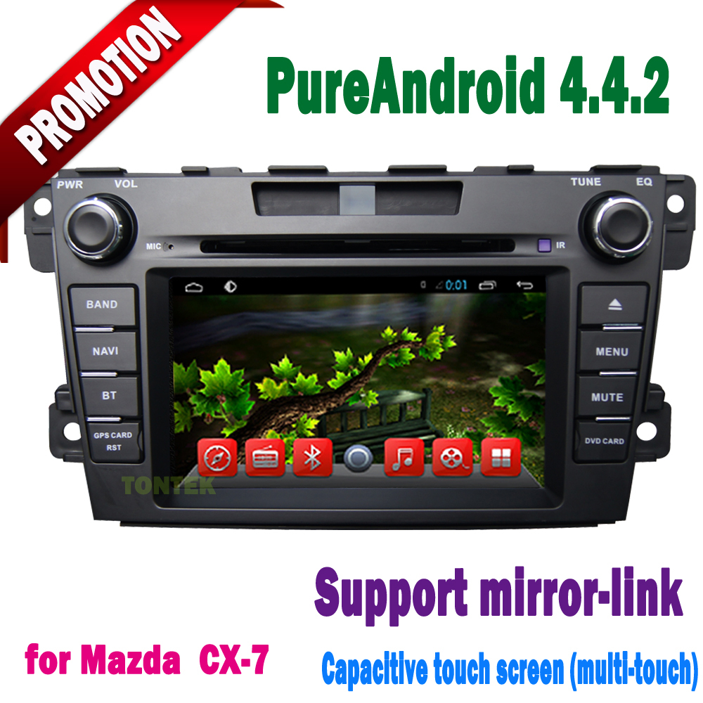 New 2015 android car dvd mazda cx-7 with GPS wifi 3g BT radio SWC dtv mirror link OBD wifi hotspot option tontek(China (Mainland))