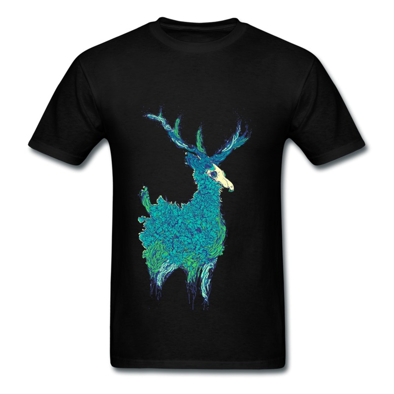Creat propre Gildan t-shirt Boy belle cerfs Swag photo T-Shirts pour homme 2014 mode(China (Mainland))