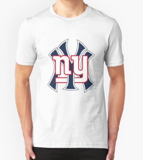 Summer Short Sleeve T-shirts Ny Yankees Ny Giants Mashup Printing T Shirts football Fitness Gym T shirts Men Tees(China (Mainland))