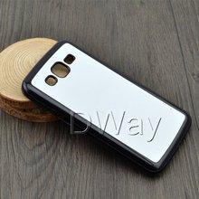 En plastique dur bricolage 2D Sublimation vierge cas de couverture pour Samsung Galaxy Grand – 2 G7106 avec plaque d'aluminium 50 pcs/lote