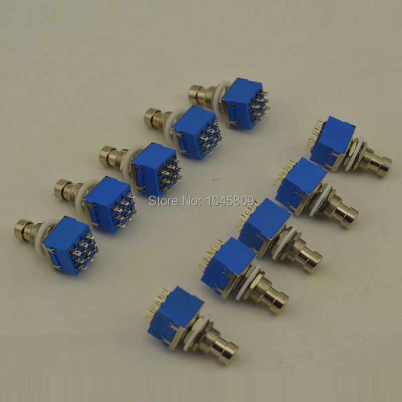 10 PCS Lot Electric Guitar 3PDT Effects Stomp Foot Pedal Switch True Bypass 3PDT foot pedal