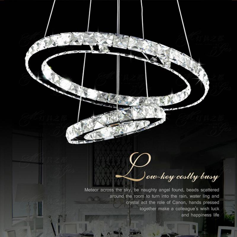 Led Anneau De Cristal Lustre En Cristal Bague En Diamant Lumiere Luminaire Suspension Lumiere