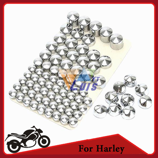 83pcs/set chrome plated ABS motorcycle bolt caps topper cover  for Harley Davidson Twin Cam Road King/FLH 1999-2006