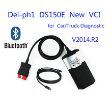 2015 Quality A for delphis DS150E New VCI CDP 2014 R2 with Bluetooth for Autocom Car Diagnostic tools Tcs cdp pro Multi-language(China (Mainland))