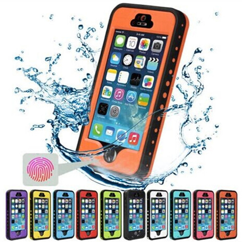 Snowproof Case for iphone5 5s Waterproof Shockproof Phone Case with Touch ID Fingerprint Function Protective Cover For iPhone SE(China (Mainland))