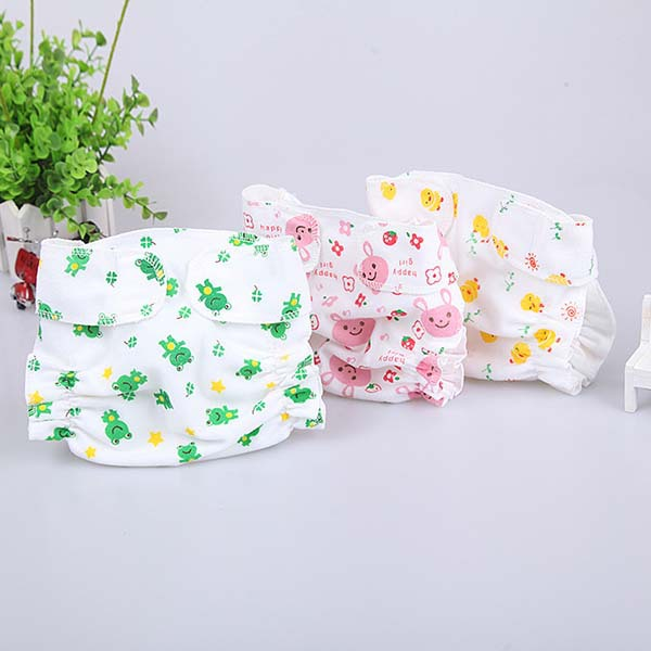Cartoon Animal Washable Reuseable Baby Kids Cloth Diapers Nappy Inserts Cotton Leak-proof  Cover