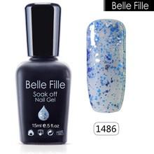 Buy BELLE FELLE 15ml UV Gel Nail Polish Bling Glitter Soak-off esmaltes permanentes de uv Manicure Nail Gel art varnish Nude Makeup for $2.71 in AliExpress store
