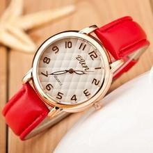 Hot Selling Elegant Women Watches 2016 High Quality Simple Dress Watches High Grade Leather Quartz Watch Reloj Mujer Clock Women
