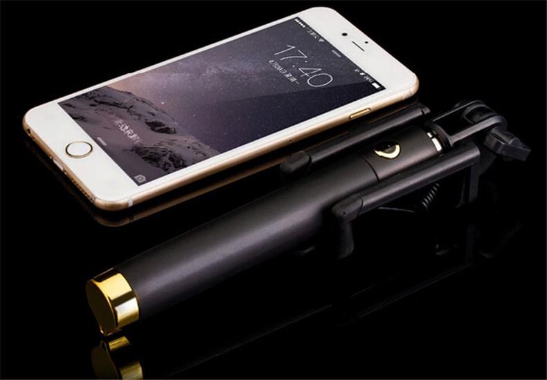 image for 2015 Newest Wireless Handheld Monopod Built-in Shutter Selfie Stick Bl