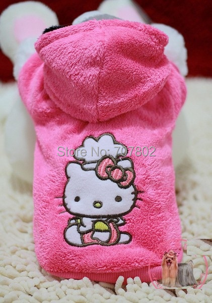 10 PCS/LOT Hot sale New arrival Hello kitty dog clothing pet coat pet jumpers pet jacket size XS-XL FPRC111902(China (Mainland))
