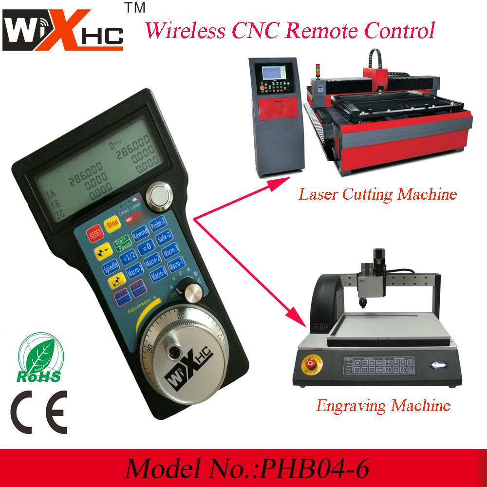 Laser engraving machine used 6 Axis CNC pendant wireless remote control Electronic handwheel MPG(China (Mainland))
