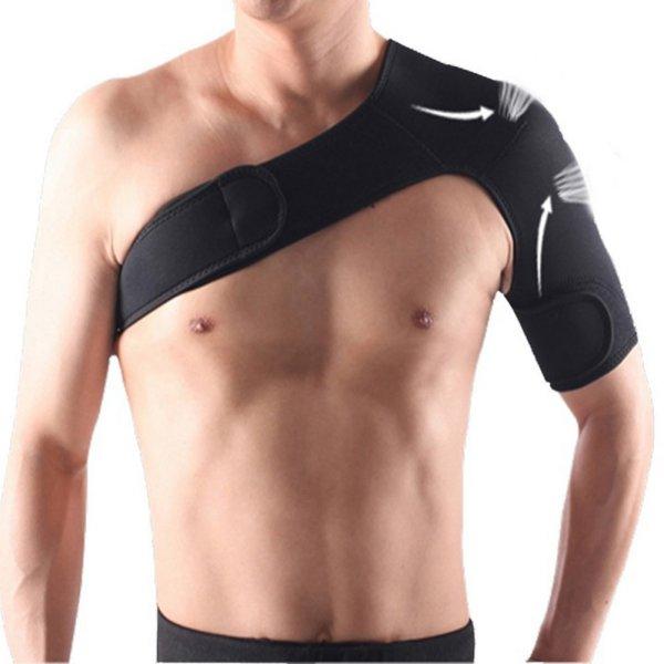 Adjustable Elastic Shoulder Support Brace Basketball Arm Sleeve Men Safety Sports Injury Guard Posture Corrector Back Protector(China (Mainland))