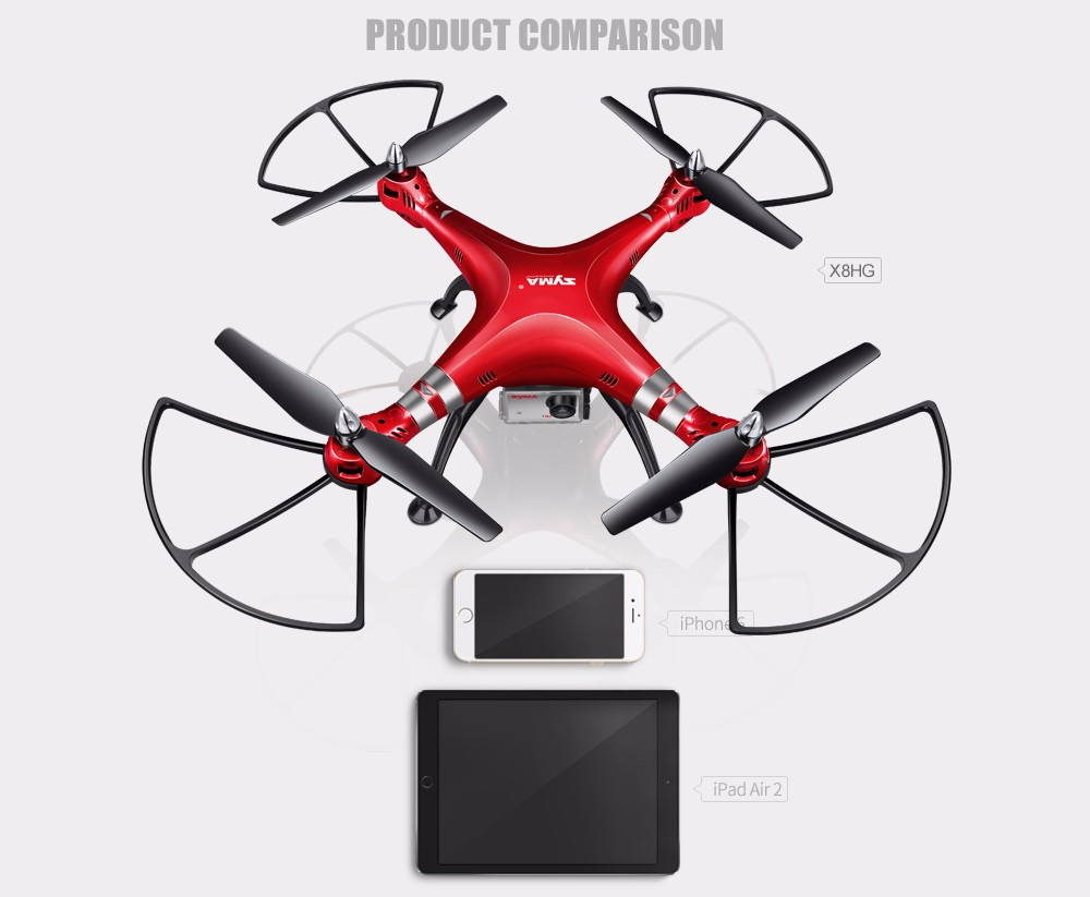 SYMA Professional UAV X8HG X8HW X8HC 2.4G 4CH RC Helicopter Drones 1080P 8MP HD Camera Quadcopter (SYMA X8C/X8W/ X8G Upgrade)