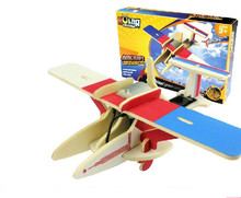Robotime Educational toy science technology P260 mini dragonfly solar plane 3d jigsaw puzzle assembly model wooden game gift 1pc(China (Mainland))