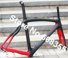 Buy FR-308P1 Brand New Full Carbon 3K Matt 700C Road Frame 54cm  (painted red), Fork, Seatpost, Clamp, Alloy headset for $469.00 in AliExpress store