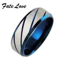 Min order 10$ (mix order) 316L Stainless Steel Superman Finger Rings blue Men's titanium steel  blueornaments gj196