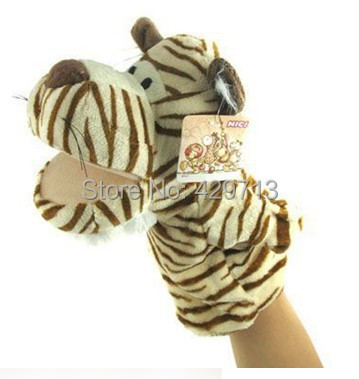 High quality variety of animal puppet doll mouth dynamic cartoon doll gloves early zoo story puppets Lovely Kids Baby Plush Farm()