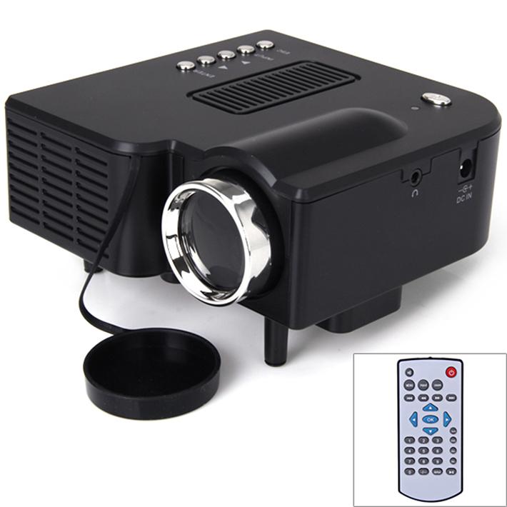 UC28+ 48 Lumens 1080P HD Multimedia Portable Mini LED Projector HDMI VGA AV USB SD Card lamp Remote Control pico Proyector Black(China (Mainland))