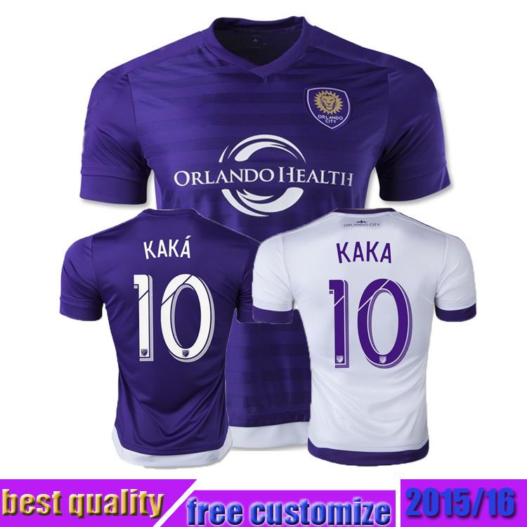 2015 New Orlando City Jersey 15 16 home away purple white Orlando City soccer jersey KAKA shea collin football shirts(China (Mainland))