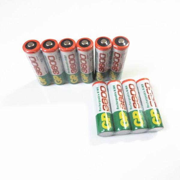 10pcs/lot original GP aa rechargeable battery 3600mah / gp 3600 / / rechargeable battery gp batteries 1.2V Ni-MH + Free shipping(China (Mainland))