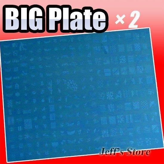 2PCS New Big Size DIY Nail Art Stamping Stamp Image Plate / Stamping Nail Art / Image Plates