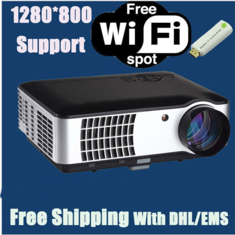 Brand New! Best 3500 lumens LED HD Home projetor 3D Portable Projector With 2HDMI+2USB+Analog TV Tuner(China (Mainland))