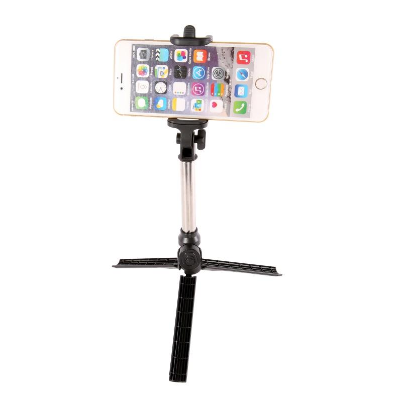 EDAL 2 in 1 Portable Bluetooth Selfie Stick Mini Foldable Self Stick Tripod Stretchable Selfie Stick Phone Tripod Holder Support