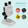 20X LED Binocular Stereo Microscope PCB Solder Tool Insect Plant Watch Students Science Educational Microscope Kids