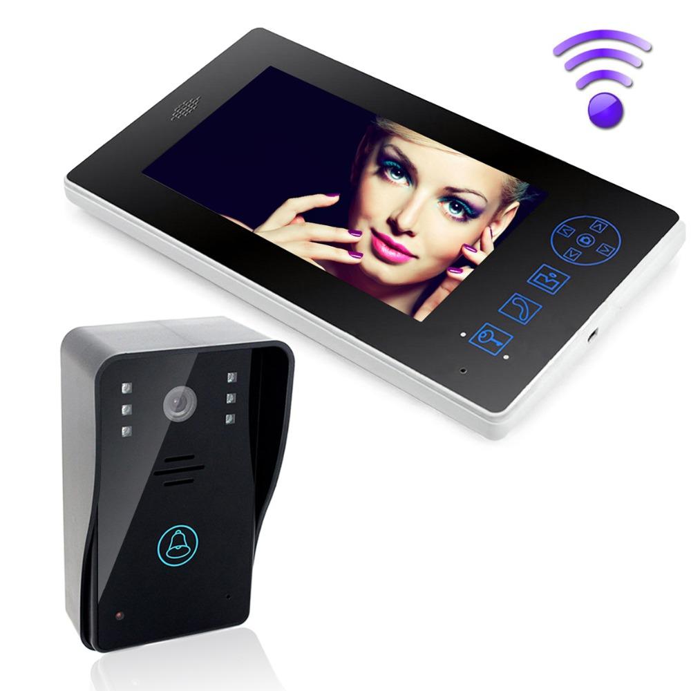 Waterproof Wireless 7 Video Door Phone Video Intercom Monitor Doorbell System Home Security IR Camera F1613A(China (Mainland))