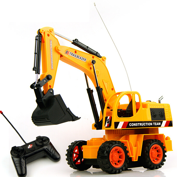4 Channels Children's Remote Control Excavator Digger Kids' RC Engineering Truck Electric Toy - Easy to Buy Happy Shopping Outlet store