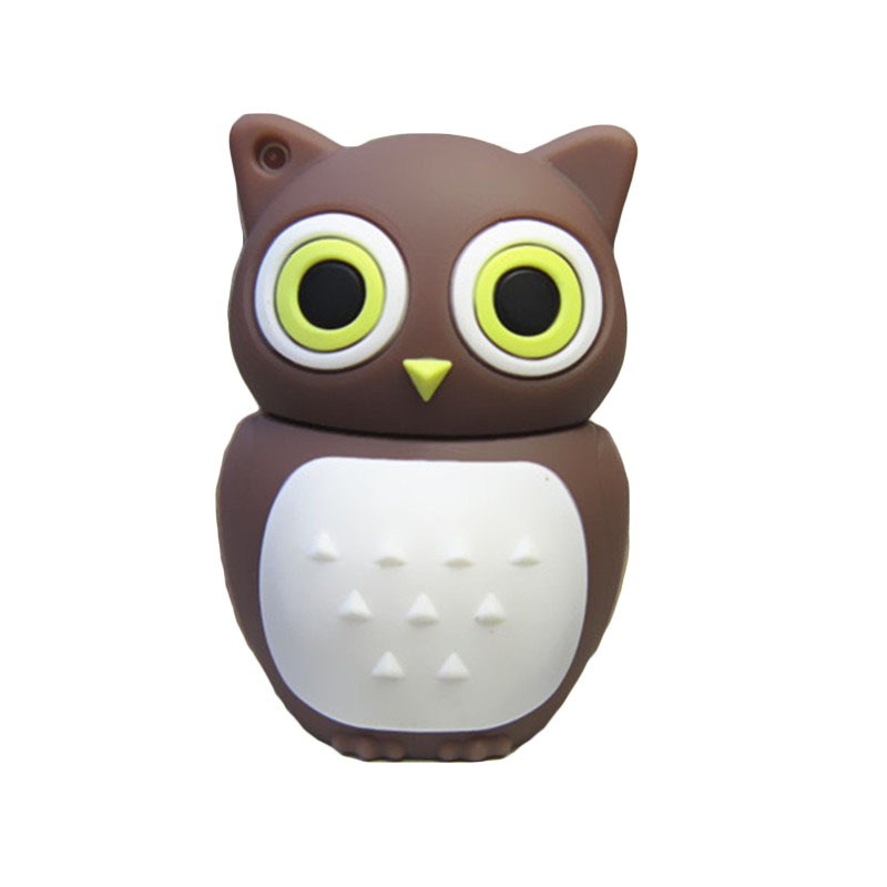 Pen drive 4gb/8gb/16gb/32gb/64gb cute Brown Owl usb 2.0 flash drive memory stick pendrive flashdrive gift mini(China (Mainland))