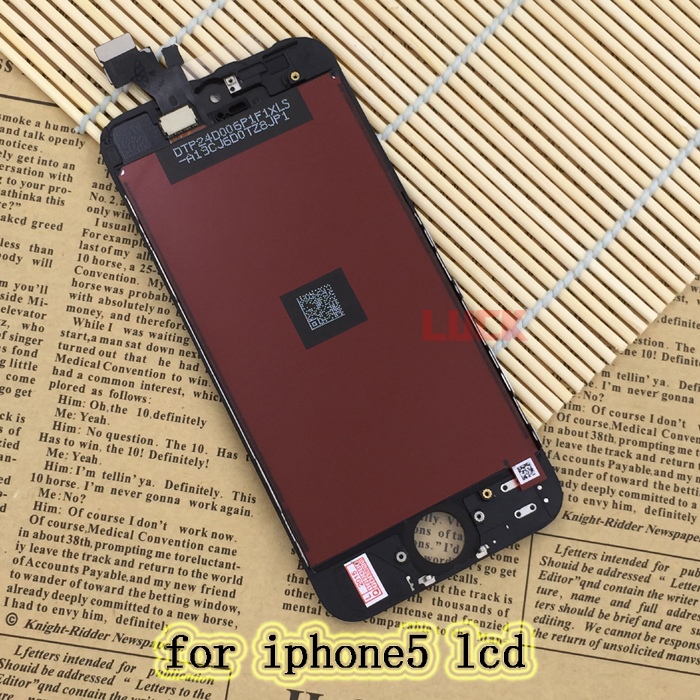 Free Shipping for iPhone 5 lcd display with touch screen digitizer assembly replacement(China (Mainland))