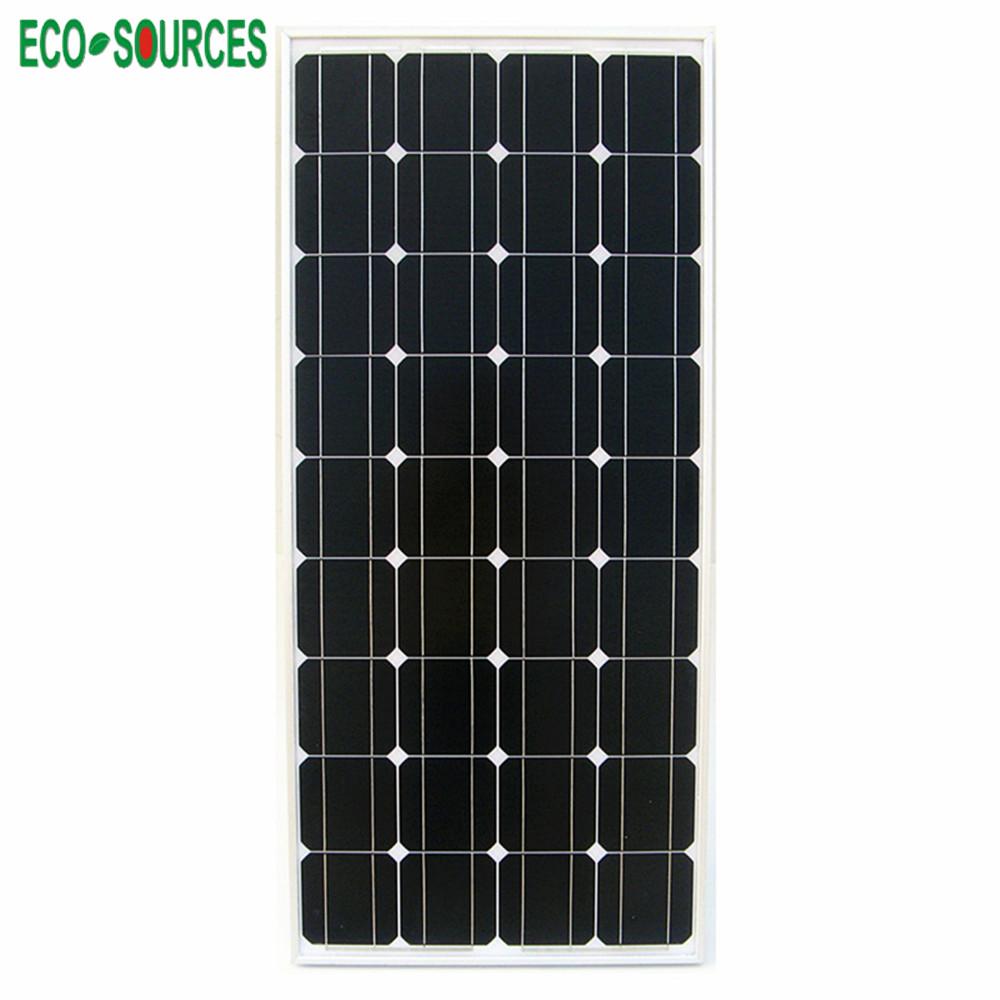 USA Stock 100W Mono Monocrystalline Solar Panel 12V Photovoltaic 100W Solar Panel off Grid Battery RV Boat Camp Free Shipping(China (Mainland))