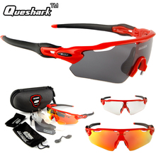 Buy Queshark Mens Women Polarized Cycling Glasses Bike Goggles Racing Bicycle Sunglasses 3 Lens Outdoor Sports Riding Hiking Eyewear for $11.50 in AliExpress store