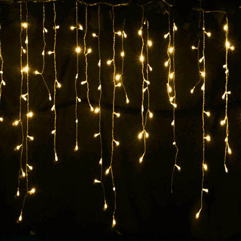 Connector 5M x 0.4M 0.5M 0.6M led curtain icicle string lights led fairy lights Christmas lamps Icicle Lights Xmas Wedding Party(China (Mainland))