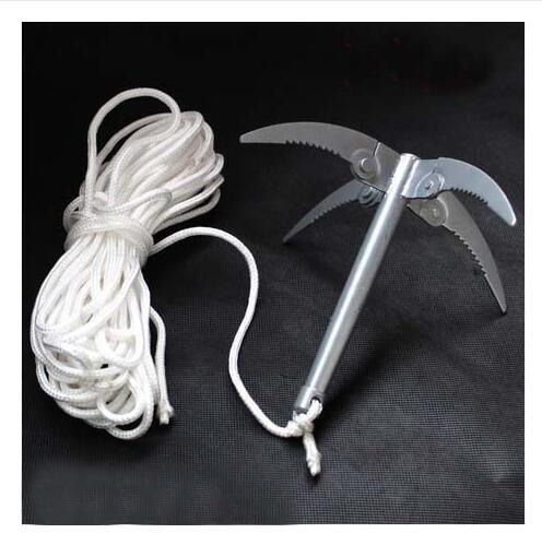 2016 Hook folding plants rake anchor knife flying small fishing tackle anchor outdoor products folding metal(China (Mainland))