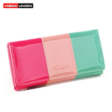 Hot 2014 New Fashion PU Leather Women Wallet Candy Color Lady Wallets Mobile Bags Handbag Coin Purses Clutch 6 Colors Wholesale