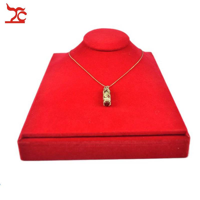 Wholesale 5 Red Velvet Necklace Stands Jewellery Holder Shop Display Bust