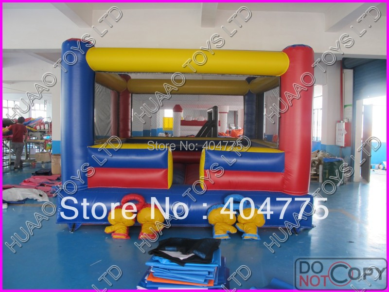 commercial grade inflatable boxing ring including 4 gloves+2 helmets+1carry bag+1 CE/UL air blower+1 repair kit(China (Mainland))
