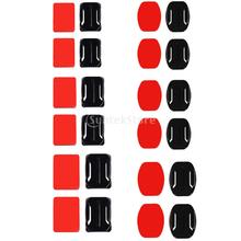 12 Helmet Accessories Flat Curved Adhesive Mount Pad Base For Gopro Hero 1/2/3/4 Action Camera(China (Mainland))
