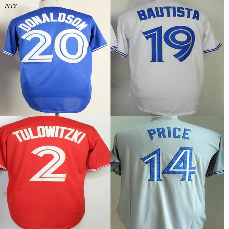 Josh Donaldson jersey Jose Bautista David Price Troy Tulowitzki Russell Martin Mark Buehrle R.A Dickey jersey Baseball Jerseys(China (Mainland))