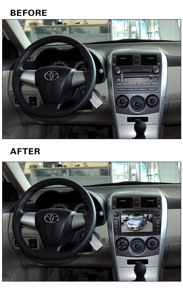 """Quad core WIFI Android 5.1.1 2Din 7"""" FM BT 1024*600 Car DVD Player Radio Stereo PC Audio Screen GPS For TOYOTA Corolla 2006-2011(China (Mainland))"""