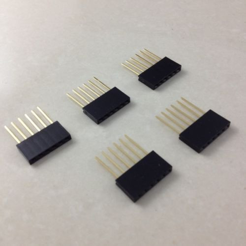 20x MEGA2560 UNO 6 Pin 2 54 mm Stackable Long Legs Femal Header For Arduino Free