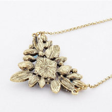 Exquisite Bohemia Jewelry Rhinestone Necklace 2015 Wholesale Vintage Chain Collar Necklaces Pendants Fashion Jewelry for Women