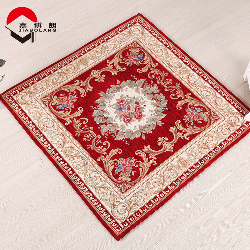 JiaBoLang 1200mm x 1200mm Square Thicken Soft Parlor Carpet Living Room Cozy Finished Flowers Embroidery Carpets And Rugs