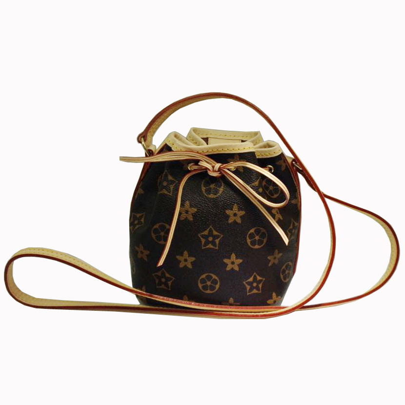 famous designer bags 2015 NANO NOE Handbags Monogram canvas of Nano Lockit mini bags genuine leather small handbag M41346(China (Mainland))