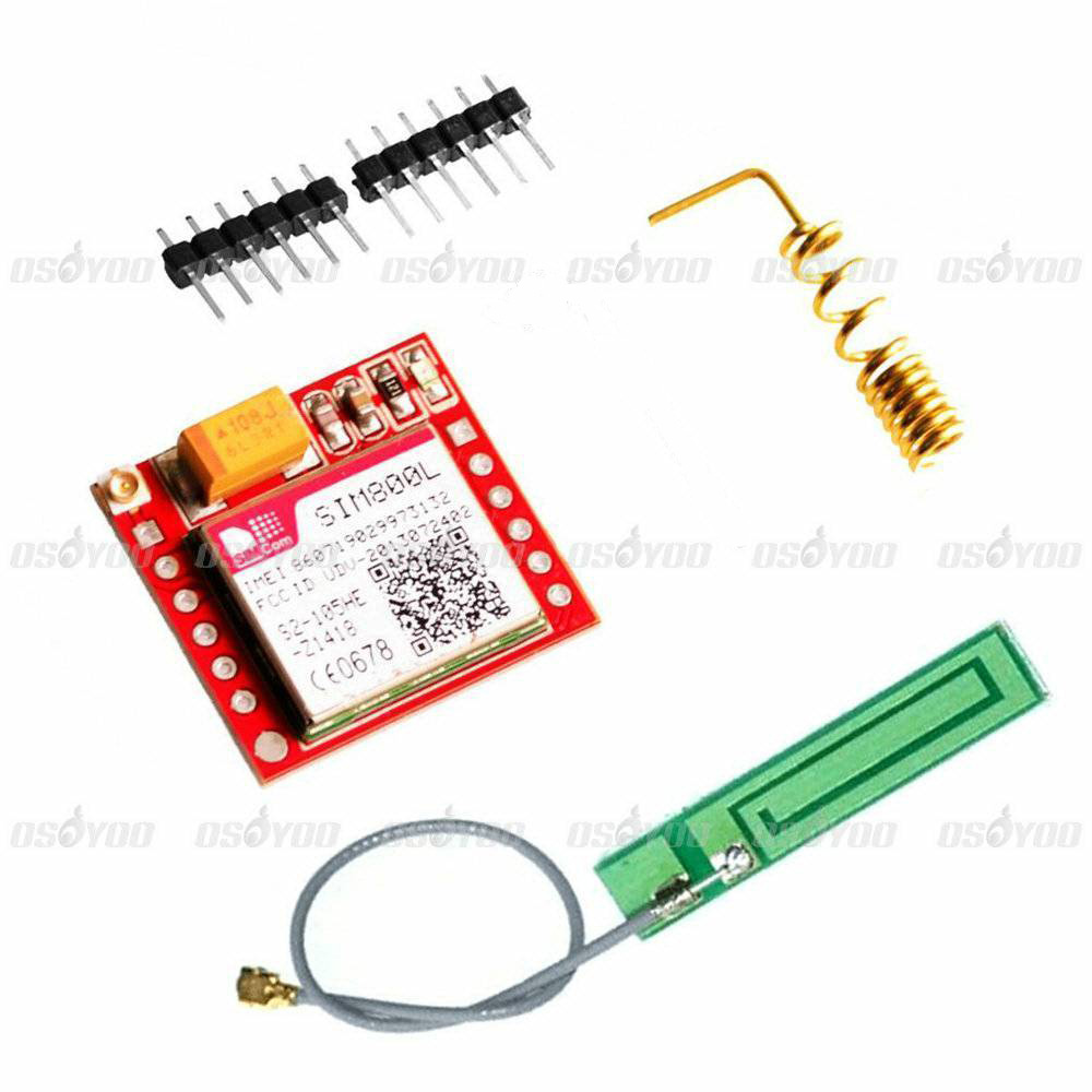 SIM800L Gprs GSM Module Micro SIM Card Core Board Quad Band TTL Port with Antenna for Arduino MCU(China (Mainland))