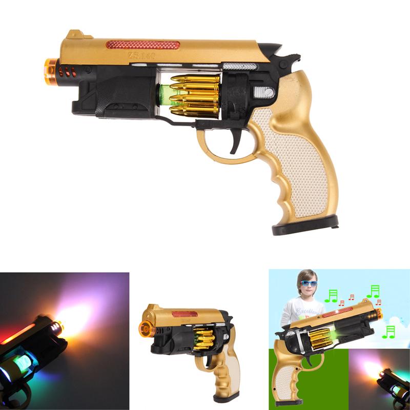 New Design Electric SHOCK Gag Gun Toy Light Gift Prank Trick Party Children's Toys Free Shipping K5BO(China (Mainland))