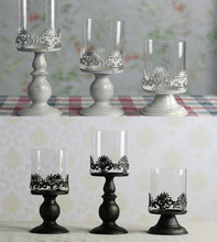 2015 Candles Good Quality Classical European Style Hollow Iron Candle Holder Wedding Party Home Decoration Glass Holders Gift (China (Mainland))